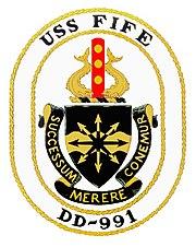 USS FIFE (DD-991) Crest