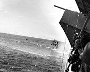 USS Hammann sinking 1942-06-06 seen from USS Yorktown
