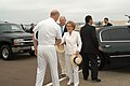 US Navy 040723-N-2636M-019 Former First Lady Nancy Reagan greets Commander U.S. Naval Air Force Pacific, Vice Adm. Michael D. Molone.jpg