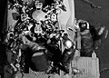 US Navy 050513-N04776G-156 Aviation Machinist's Mates work on the engine of a SH-60 Seahawk helicopter after the completion of night flight operations.jpg