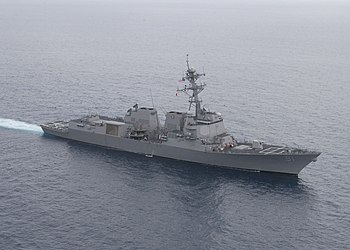 US Navy 050526-N-1577S-110 The guided missile destroyer USS Pinckney (DDG 91) underway in the Pacific Ocean.jpg