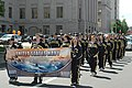 US Navy 060506-N-8144F-001 Navy Recruiting District Denver Delayed Entry Program members, march in the Cinco de Mayo Celebrate Culture Parade, during the Denver Navy Week festivities.jpg