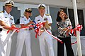 US Navy 070727-N-4124C-029 Rear Adm. James D. Kelly, commander of Naval Forces Japan, Rear Adm. Carol M. Pottenger, commander of Expeditionary Strike Group 7, Capt. Tilghman D. Payne, commander of Fleet Activities Sasebo, and T.jpg