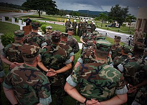 Naval Base Guam - Change-of-command ceremony at Camp Covington
