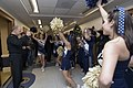 US Navy 071129-N-8273J-019 Chief of Naval Operations (CNO) Adm. Gary Roughead gives a thumbs up to U.S. Naval Academy cheerleaders and band performing during a pep rally in the Pentagon prior to the upcoming Army-Navy game.jpg
