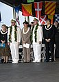 US Navy 071207-N-8623G-015 The Honorable Linda Lingle, Governor of Hawaii, Adm. Timothy J. Keating, Commander, U.S. Pacific Command, and Adm. Robert F. Willard, Commander, U.S. Pacific Command stand during the arrival of colors.jpg