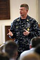 US Navy 090219-N-9818V-099 Master Chief Petty Officer of the Navy Rick West answers questions from Sailors at Naval Submarine Base Kings Bay.jpg