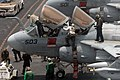 US Navy 090805-N-9132C-135 Sailors clean and inspect an EA-6B Prowler assigned to the Cougars of Tactical Electronic Warfare Squadron (VAQ) 139 aboard the aircraft carrier USS Ronald Reagan (CVN 76).jpg