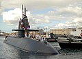 US Navy 090917-N-2560G-045 Japan Maritime Self-Defense Force (JMSDF) Oyashio-class submarine Yaeshio (SS 598) arrives at Naval Station Pearl Harbor for an annual training exercise.jpg