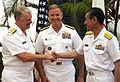US Navy 100609-N-7498L-194 Chief of Naval Operations (CNO) Adm. Gary Roughead, left, Adm. Patrick Walsh, commander of U.S. Pacific Fleet.jpg