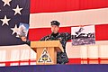US Navy 110126-N-6587W-001 Capt. Jeffrey Maclay, commanding officer of Naval Air Station Jacksonville, displays photos during the Centennial of Nav.jpg