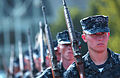 US Navy 110808-N-XP477-004 Plebes in the U.S. Naval Academy Class of 2015 practice for platoon drill competition during the sixth week of Plebe Sum.jpg