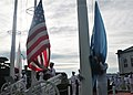 US Navy 110911-N-CG241-086 Chief selects commemorate the Sept. 11, 2001 terrorist attacks during colors at Commander, Fleet Activities Sasebo.jpg