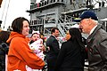 US Navy 111208-N-DG679-115 Vice President Joe Biden speaks with family members during the homecoming of the guided-missile cruiser USS Gettysburg.jpg