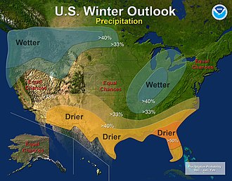 2010–11 North American winter - Precipitation Outlook