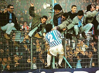 S.P.A.L. - SPAL fans celebrating a goal scored in 1992.