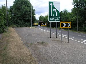 M23 motorway - Image: Uncompleted Motorway Junction geograph.org.uk 22926