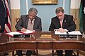 Under Secretary Goldstein and Libyan Foreign Affairs Under Secretary Almughrabi Sign a New MOU (38711461810).jpg