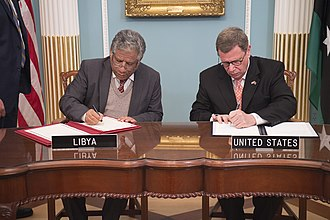 Libya–United States relations - Representatives sign a Memorandum of Understanding on cultural property protection in 2018