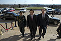 Under Secretary of Defense for Policy James N. Miller, right, escorts South Korean Foreign Minister Yun Byung-se, center, into the Pentagon April 3, 2013, in Arlington, Va 130403-D-BW835-015.jpg
