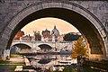 Under the St. Angelo Bridge, Rome (38795902255).jpg