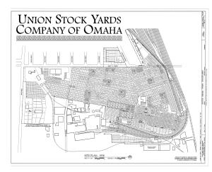 Union Stockyards (Omaha) - Site plan, 1958