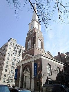 Unitarian Church of All Souls church building in Manhattan, United States of America
