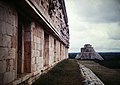 Uxmal House of Governor View of Pyramid of Magician (9785384645).jpg