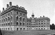 Kissam Hall was a men's dormitory from 1901 until it was razed in 1958. The baths were all in the basement.