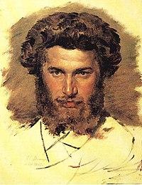 Портрет работы В. М. Васнецова, 1869