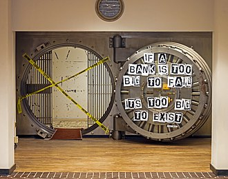 Too big to fail - Image: Vault at Poughkeepsie Savings Bank decorated by Bernie Sanders campaign