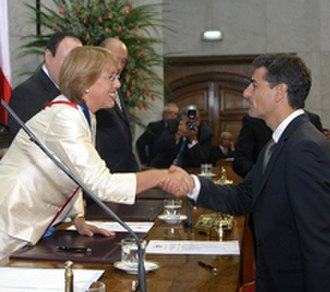 Pensions in Chile - Velasco during the ceremony of assumption as Finance Minister of Chile in March 2006