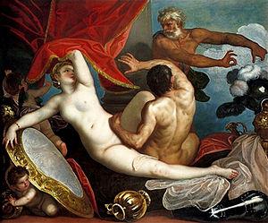 Padovanino - Image: Venus and Mars Surprised by Vulcan Il padovanino (1631)
