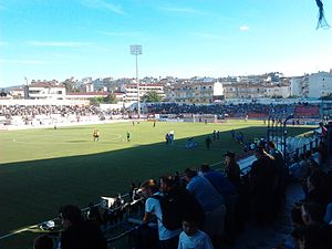 Game between Veria FC and PAOK Saloniki in September 2013