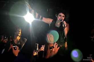 Versa (band) - Kusterbeck performing with VersaEmerge at the Vultures United Tour, October 2010