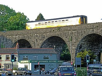 Tenby - Seven arch viaduct, Tenby