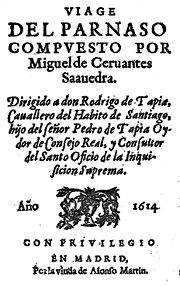 Frontispiece of the Viaje (1614).