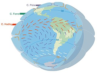 Westerlies Prevailing winds from the west toward the east in the middle latitudes between 30 and 60 degrees latitude