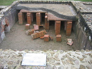 Hypocaust - Hypocaust under the floor in a Roman villa in Vieux-la-Romaine, near Caen, France