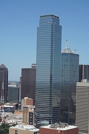 Bank of America Plaza (Dallas) - Bank of America Plaza as viewed from Reunion Tower in August 2015