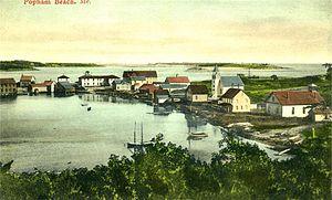 Phippsburg, Maine - View of Popham Beach in 1906