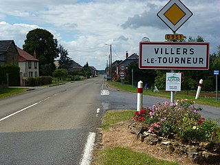 Villers-le-Tourneur (Ardennes) city limit sign.JPG