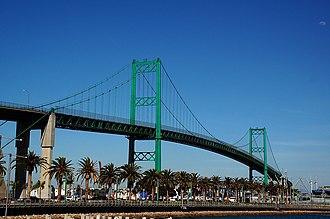 Vincent Thomas Bridge - Image: Vincent Thomas Bridge 2