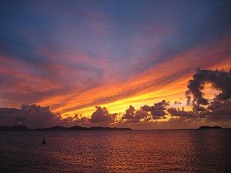 Virgin Gorda - Image: Virgin Gorda Sunset