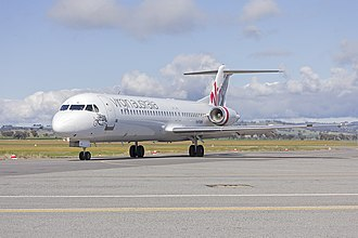 Virgin Australia Regional Airlines - VARA Fokker 100 taxiing at Wagga Wagga