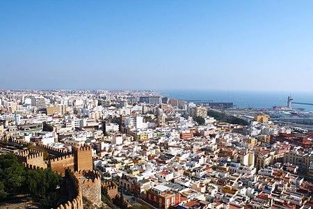 Views of Almería, Spain, from the Alcazaba de Almeria.