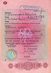 visum – wikipedia, Einladung