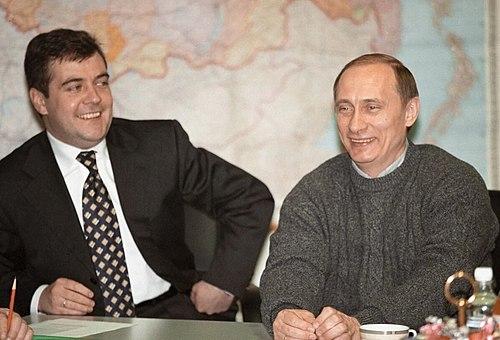 Vladimir Putin with Dmitry Medvedev-3