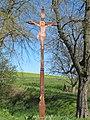 Vlkoš (HO), dřevěný kříž.jpg