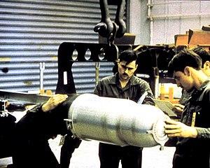 "W80 (nuclear warhead) - A W80 nuclear warhead ""physics package"""